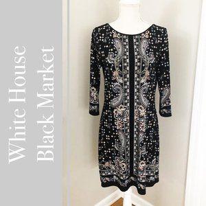 White House Black Market Paisley Sheath Dress